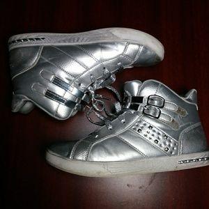 Silver vintage shoes